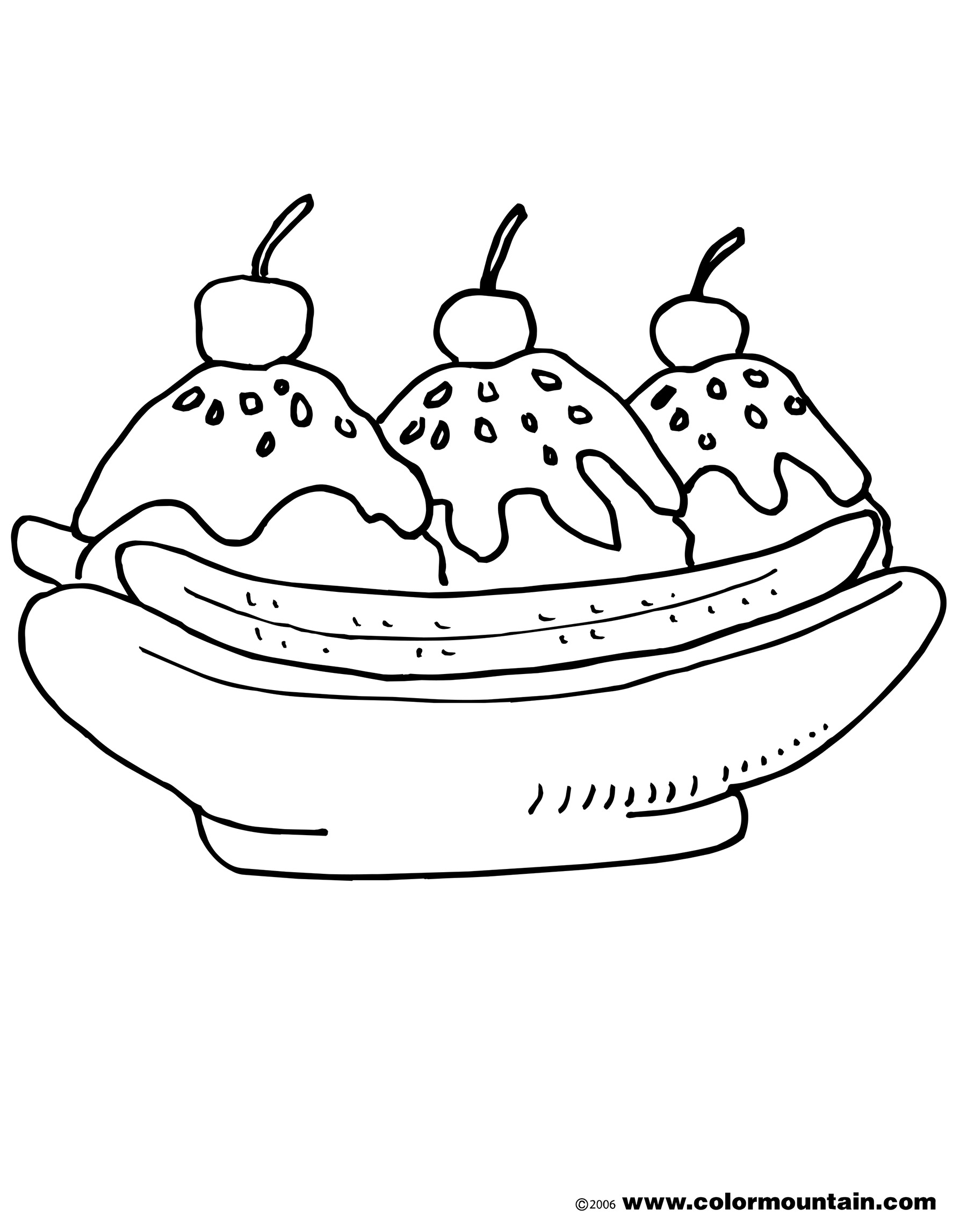 banana split coloring page banana split coloring pages for kids best place to color split coloring banana page