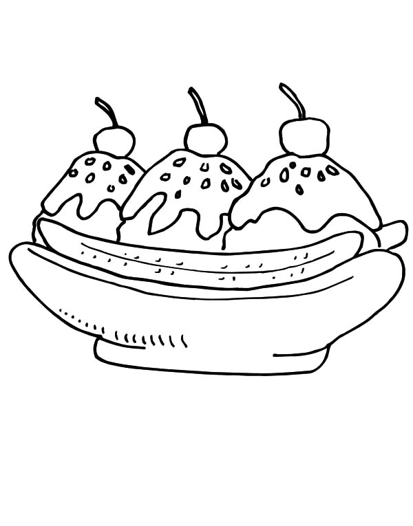 banana split coloring page banana splits coloring pages learny kids coloring split banana page