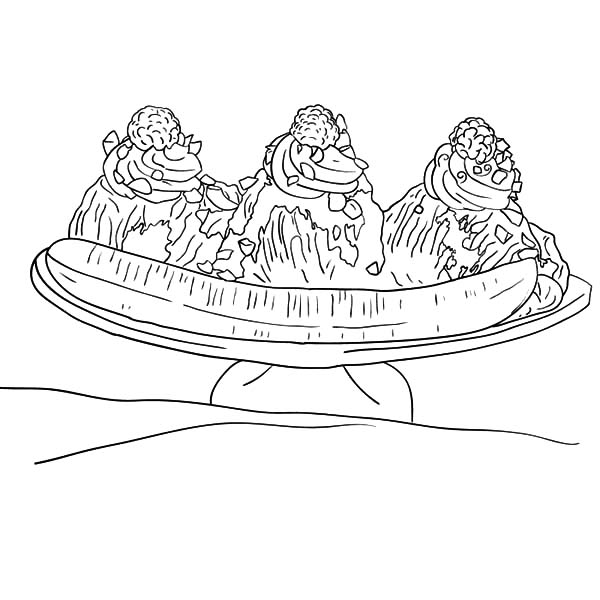 banana split coloring page split drawing at getdrawings free download page coloring split banana