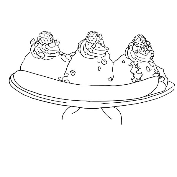 banana split coloring page tasty banana split coloring pages best place to color split banana page coloring