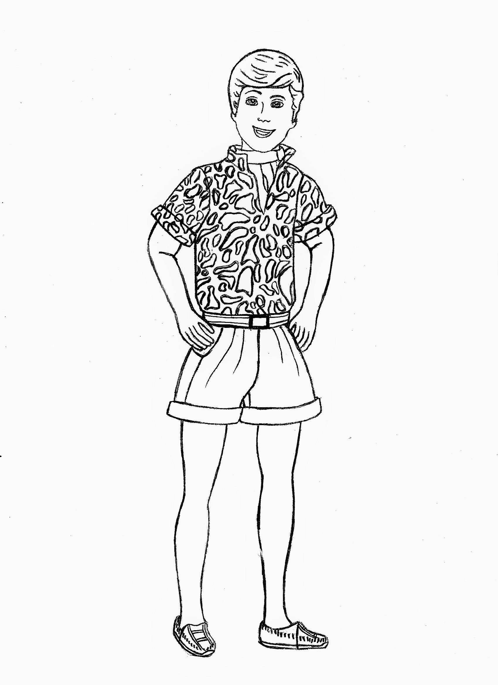 barbie and ken coloring sheets barbie and ken coloring pages getcoloringpagescom coloring and ken barbie sheets