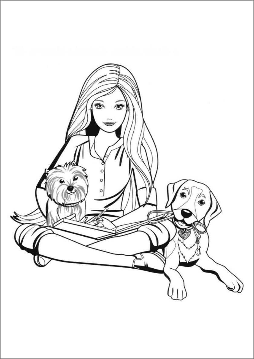 barbie and puppy coloring pages 85 barbie coloring pages for girls barbie princess and barbie puppy pages coloring