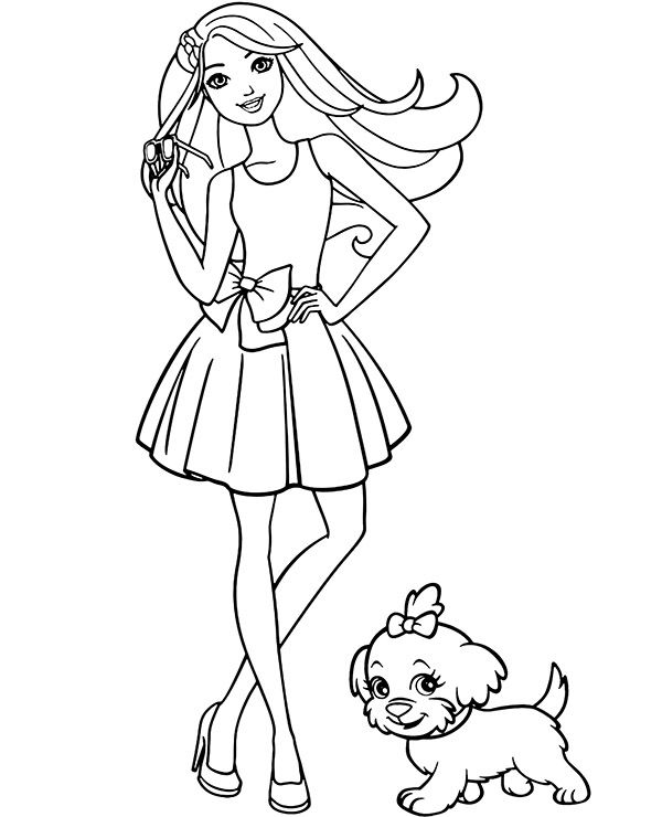 barbie and puppy coloring pages barbie and dog coloring page coloring pages and puppy barbie