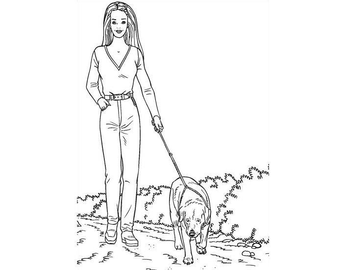 barbie and puppy coloring pages barbie and dog coloring page puppy pages barbie coloring and