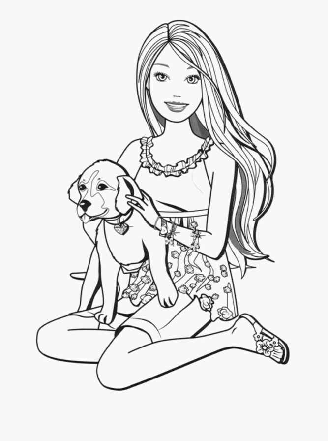barbie and puppy coloring pages barbie and dog coloring pages puppy pages barbie coloring and