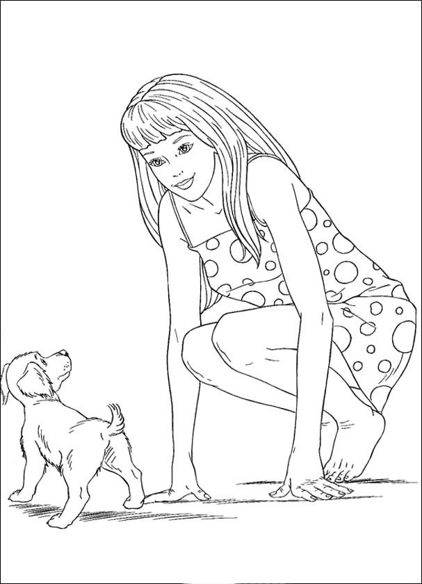 barbie and puppy coloring pages barbie coloring pages barbie and dog coloring page barbie pages coloring puppy and