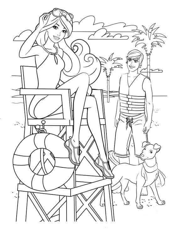 barbie and puppy coloring pages barbie coloring pages coloringbay pages puppy coloring barbie and