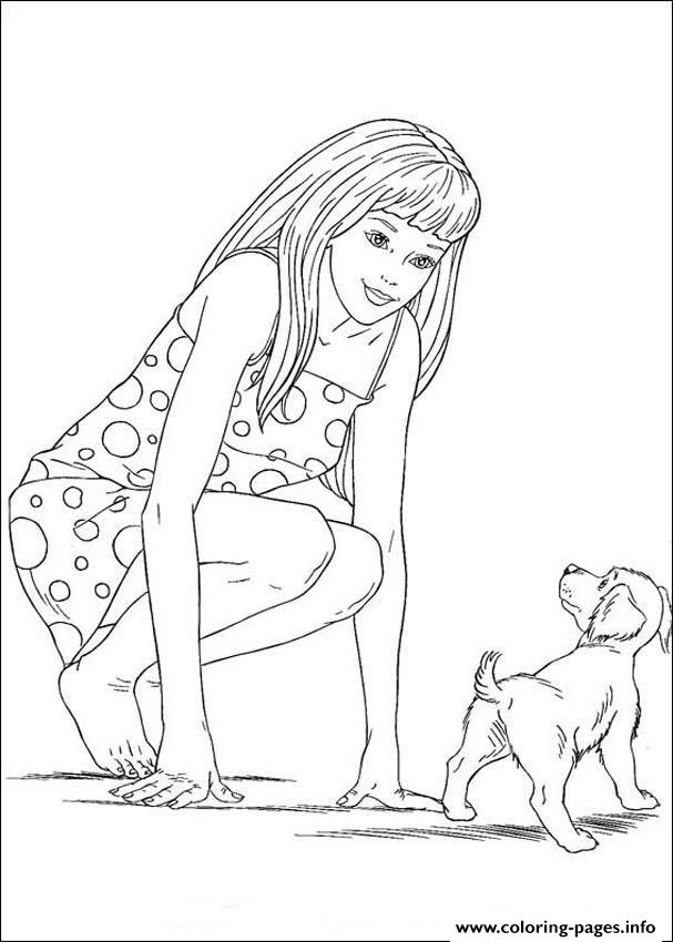 barbie and puppy coloring pages barbie coloring pages coloringbay puppy pages and coloring barbie