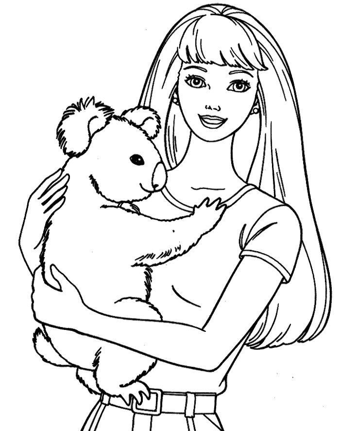 barbie and puppy coloring pages barbie dog and friend coloring page coloring sheets barbie pages and puppy coloring