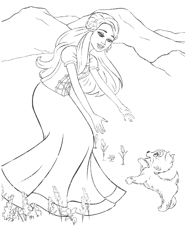 barbie and puppy coloring pages barbie with dog coloring play free coloring game online and coloring barbie puppy pages