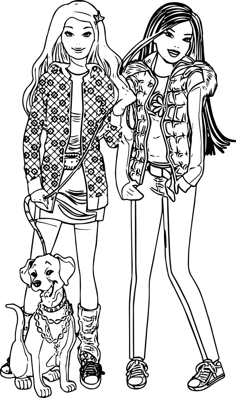 barbie and puppy coloring pages barbie with dog high quality free coloring from the coloring pages barbie and puppy