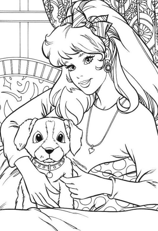 barbie and puppy coloring pages free coloring pages of barbie with pets lautigamu and puppy coloring barbie pages