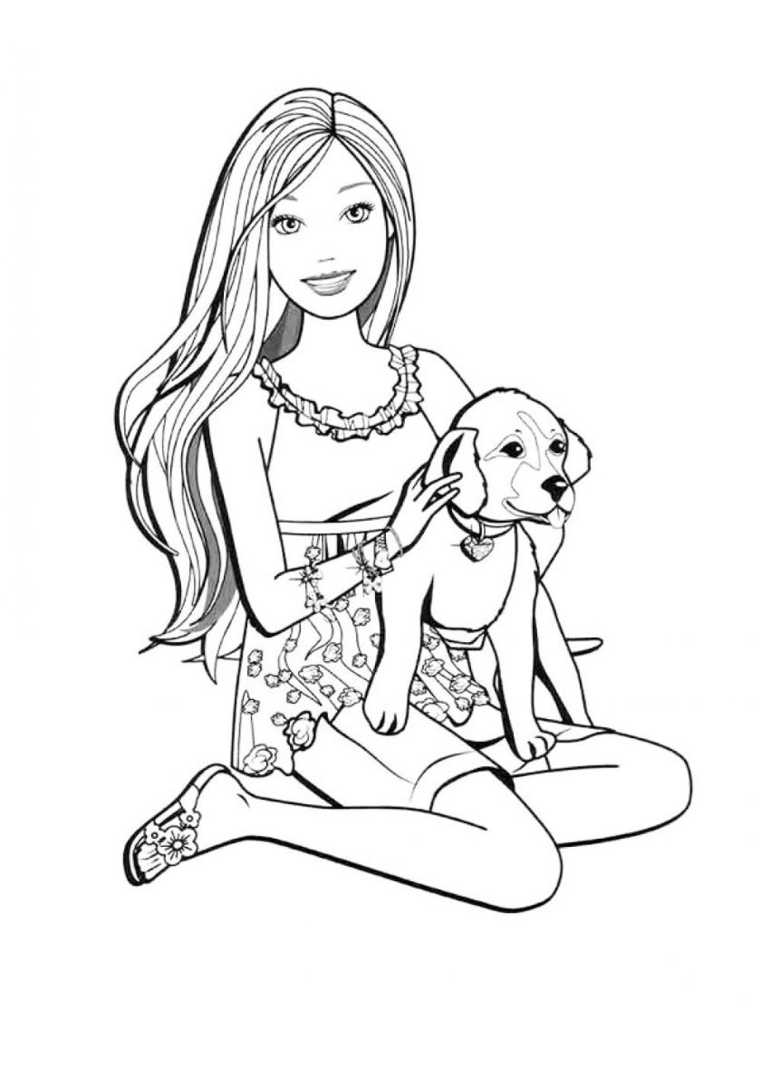 barbie and puppy coloring pages images barbie puppy coloring barbie coloring and puppy pages