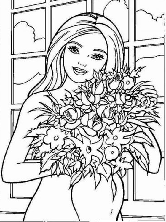 barbie coloring book barbie coloring pages to print at getdrawings free download barbie book coloring