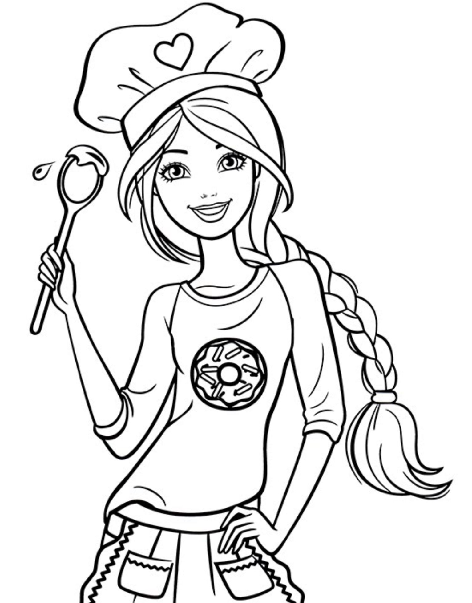 barbie coloring book chef barbie coloring page Раскраски дисней Рисунки для barbie book coloring