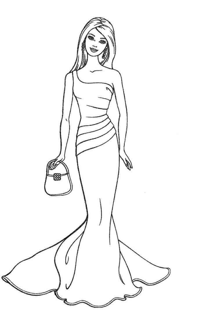 barbie doll colouring barbie coloring pages for girls toddlers adults print colouring barbie doll