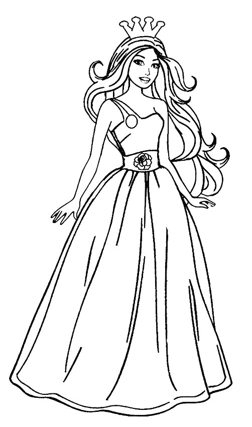 barbie doll colouring barbie doll coloring pages at getdrawings free download colouring barbie doll