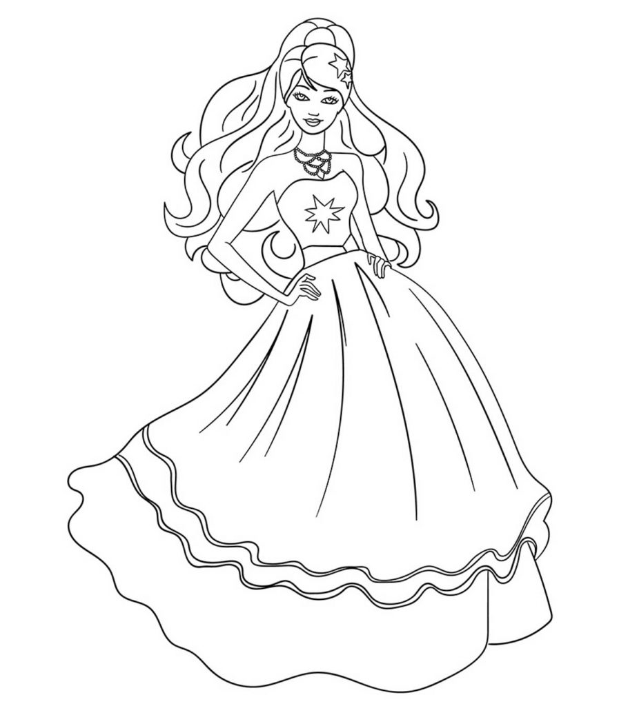 barbie doll colouring barbie princess drawing at getdrawings free download barbie colouring doll