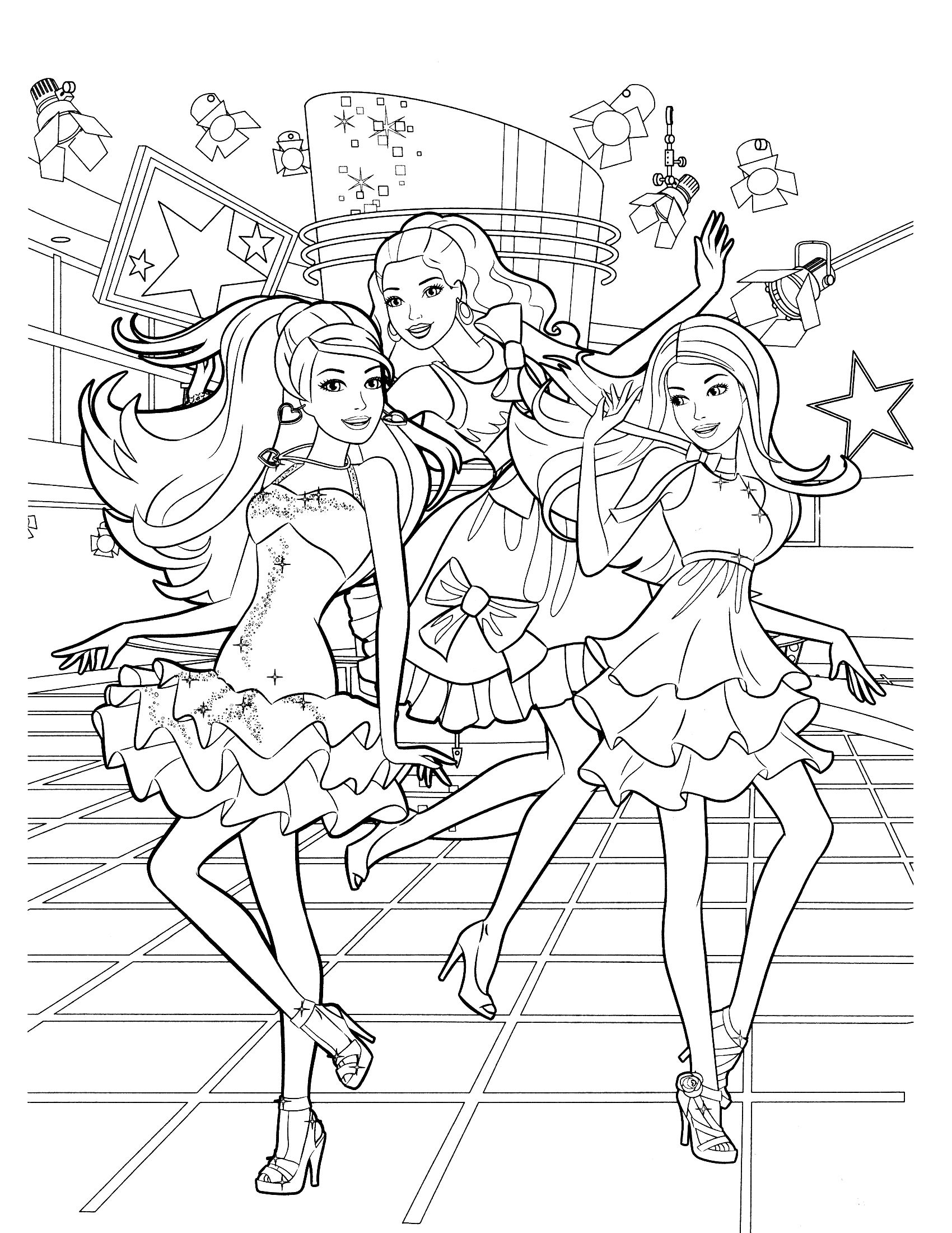 barbie doll colouring coloring pages barbie free printable coloring pages colouring doll barbie 1 1