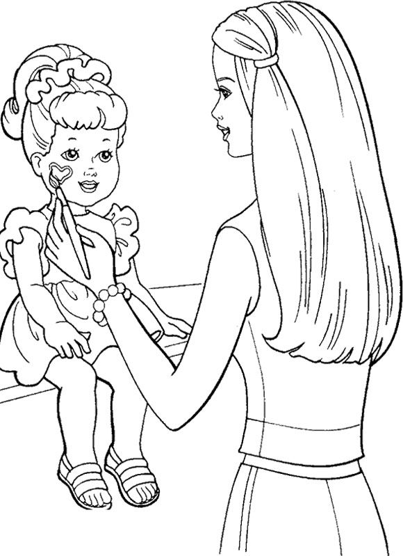 barbie painting pages barbie coloring pages painting barbie pages