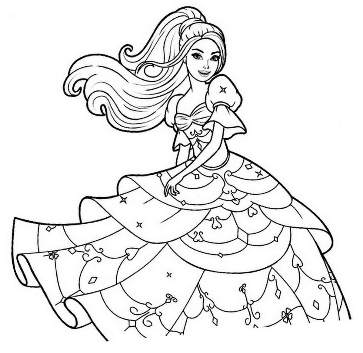 barbie painting pages barbie coloring pages to print at getdrawings free download painting pages barbie