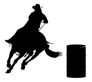 barrel racer silhouette barrel racer racing clipart clipart suggest barrel racer silhouette