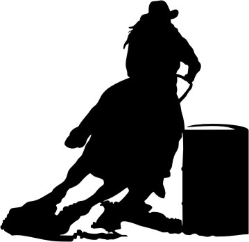 barrel racer silhouette barrel racer silhouette v4 decal sticker barrel racer silhouette