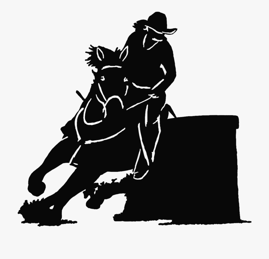 barrel racer silhouette barrel racer silhouette v5 decal sticker racer silhouette barrel