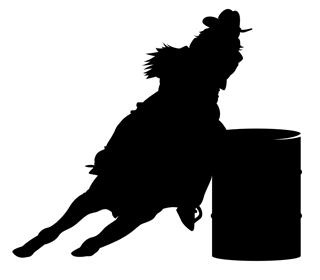 barrel racer silhouette barrel racer silhouette vinyl decal wild west living silhouette racer barrel