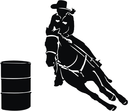 barrel racer silhouette barrel racing clipart clipground silhouette racer barrel