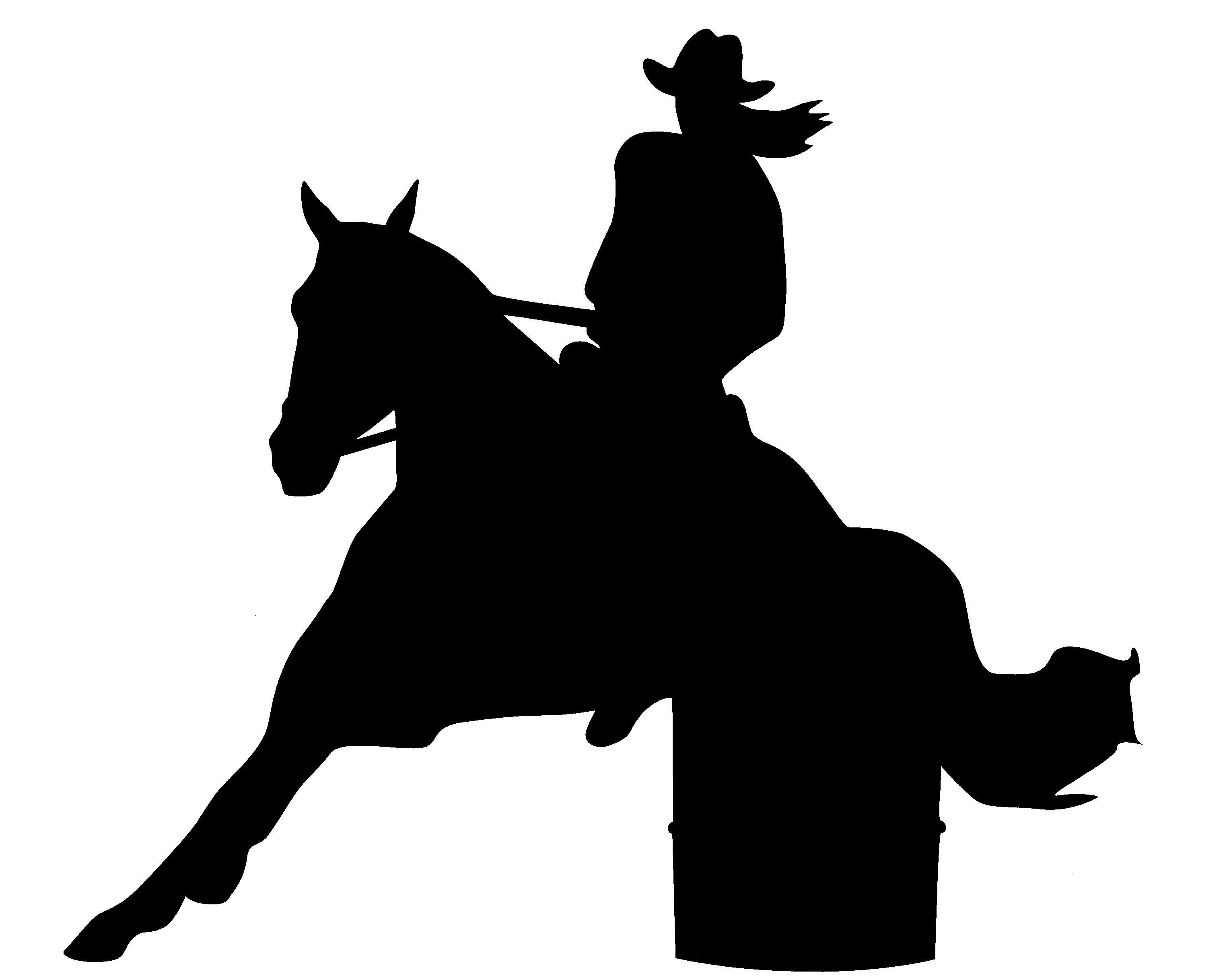 barrel racer silhouette barrel racing horse silhouette creative digital art barrel racer silhouette