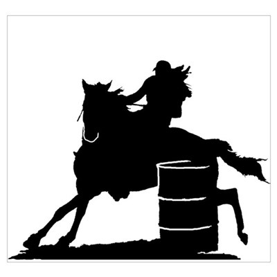 barrel racer silhouette barrel racing silhouette rectangle decal by ladybrinxdesign barrel racer silhouette