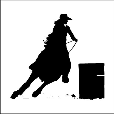 barrel racer silhouette turn nburn barrel racer awf creations racer barrel silhouette