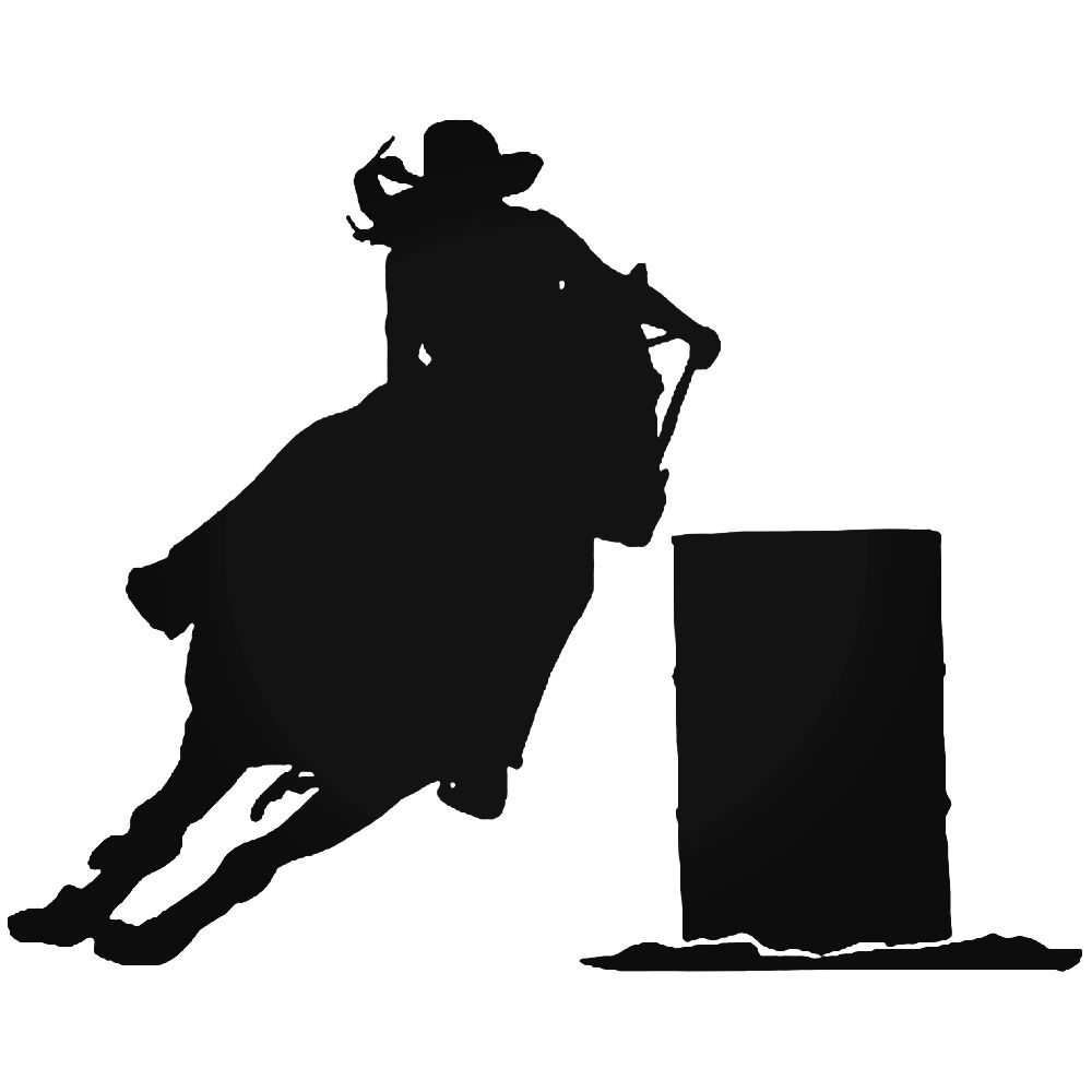 barrel racer silhouette woman barrel racer reflective decal equestrisafe llc barrel racer silhouette