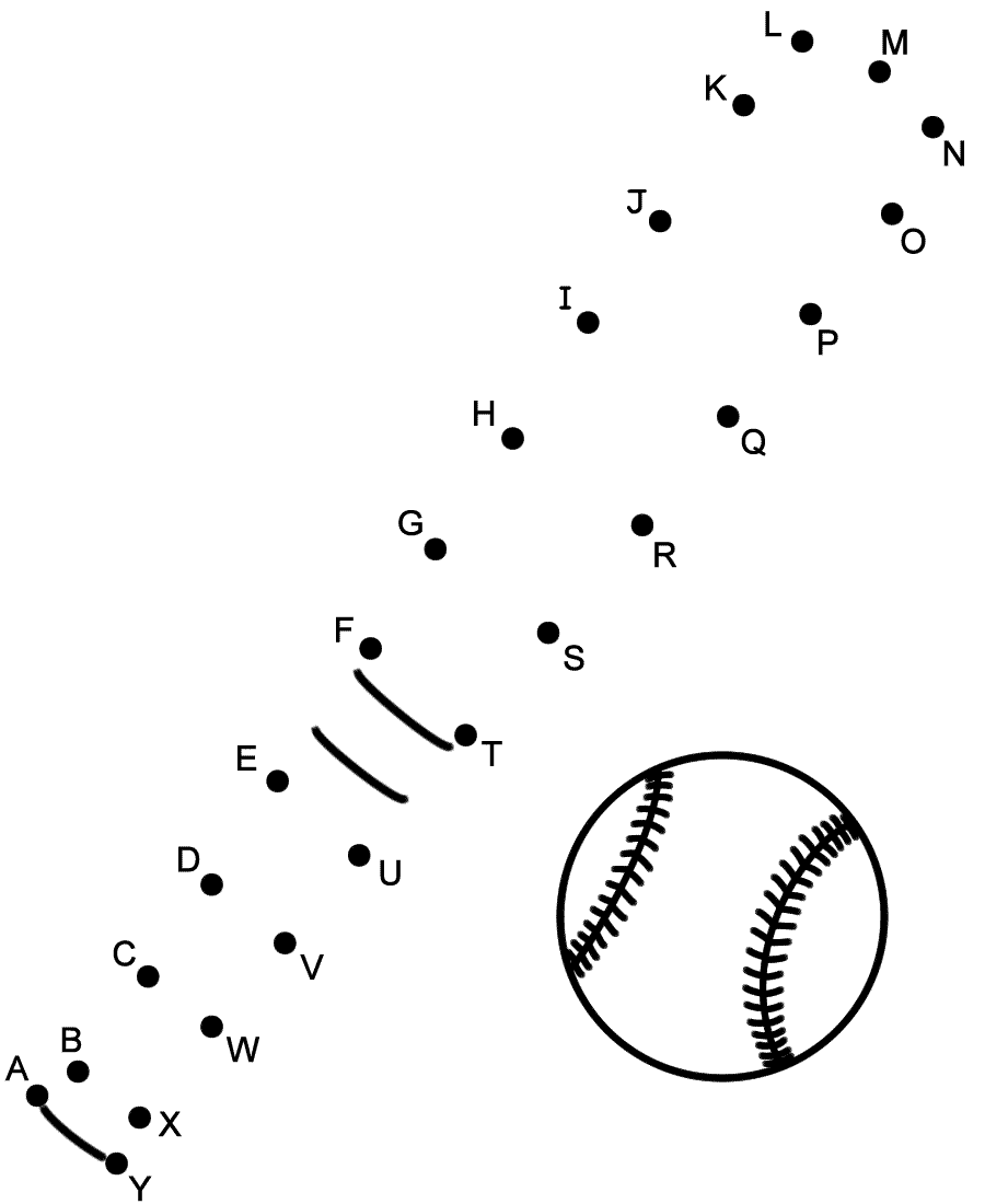 baseball connect the dots baseball connect the dots by capital letters sports dots the connect baseball