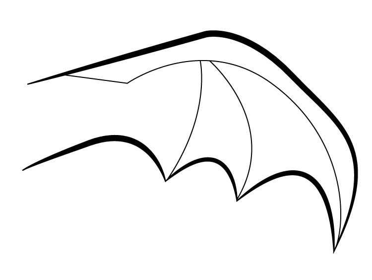 bat wings drawing bat wing pattern printable illustration hd png download drawing wings bat