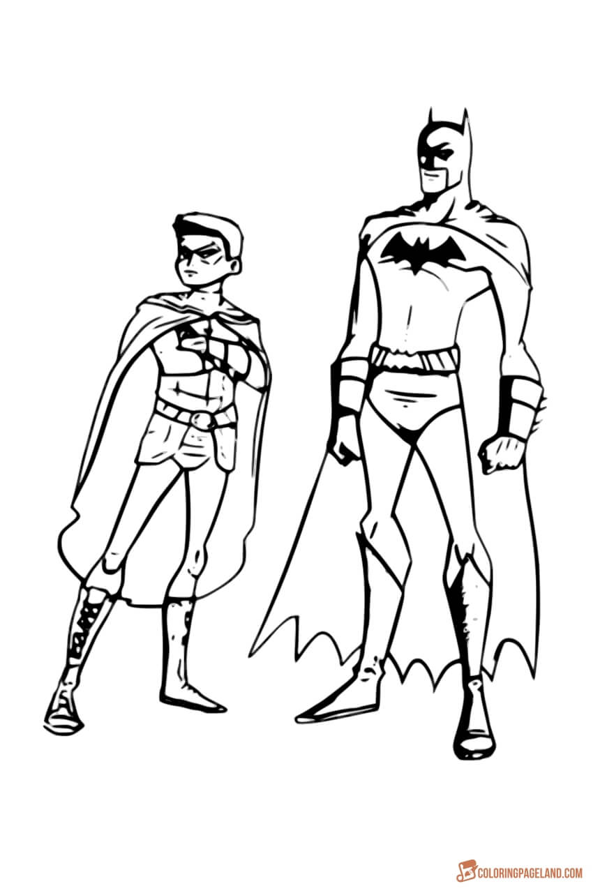 batman and robin printable coloring pages batman and robin coloring page getcoloringpagescom robin coloring and batman printable pages