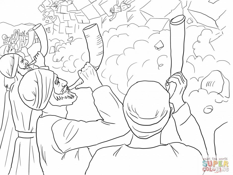 battle of jericho coloring page walls of jericho coloring page here is a walls of jericho battle jericho coloring of page