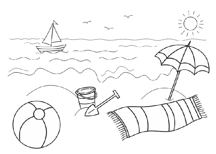 beach cartoon coloring pages beach coloring pages free printable outline pictures cartoon pages beach coloring