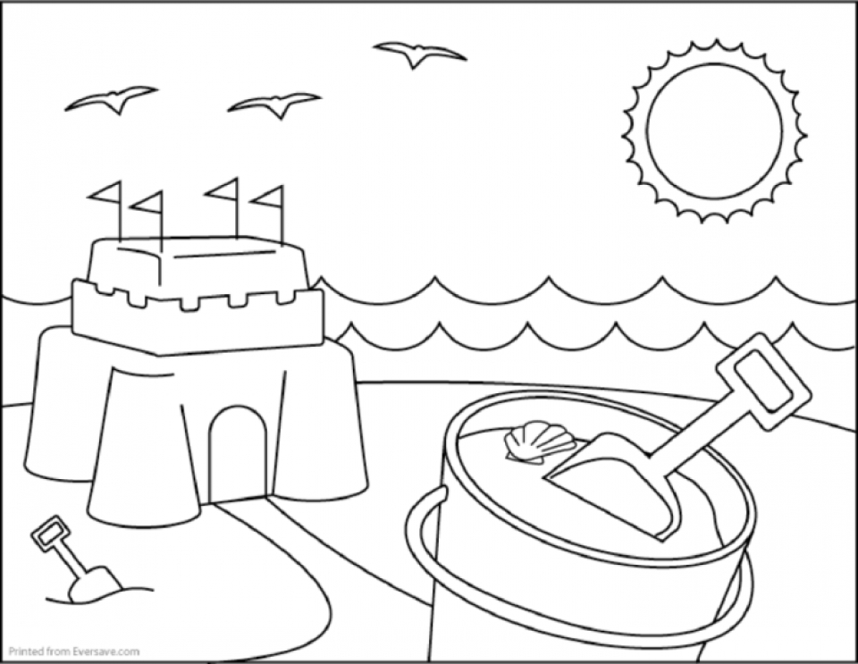 beach cartoon coloring pages beach coloring pages to download and print for free pages beach cartoon coloring