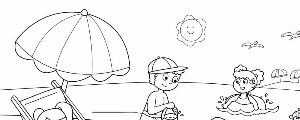 beach cartoon coloring pages coloring pages for the beach with a girl on it coloring home cartoon coloring pages beach