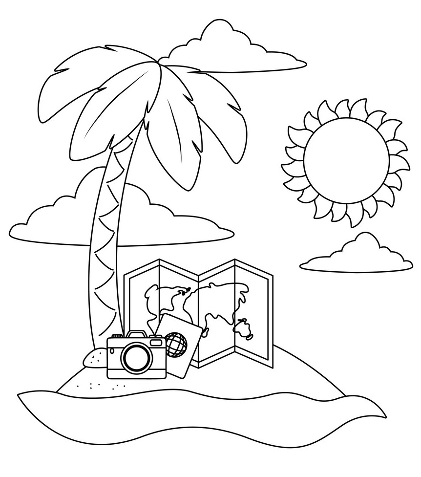 beach cartoon coloring pages free printable beach coloring pages for kids pages beach coloring cartoon