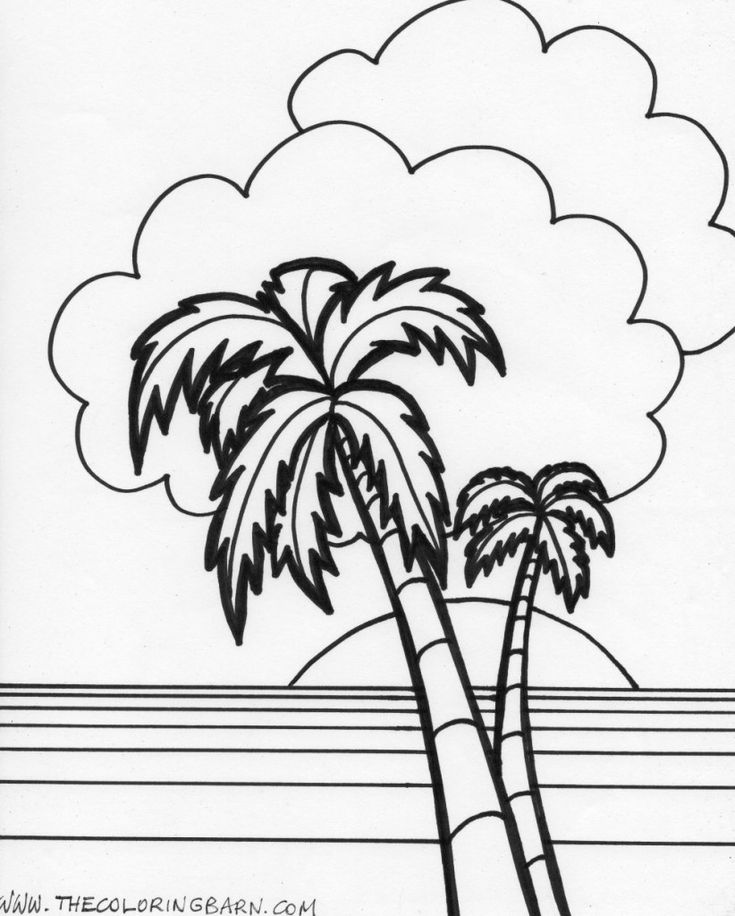 beach sunset coloring pages beach line drawing free download on clipartmag pages sunset beach coloring
