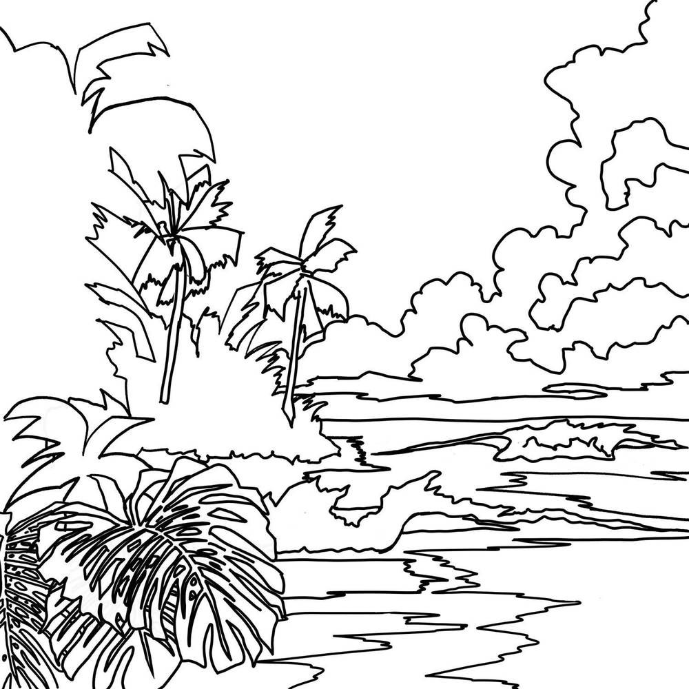 beach sunset coloring pages interactive magazine sunset beach coloring pages sunset beach coloring pages