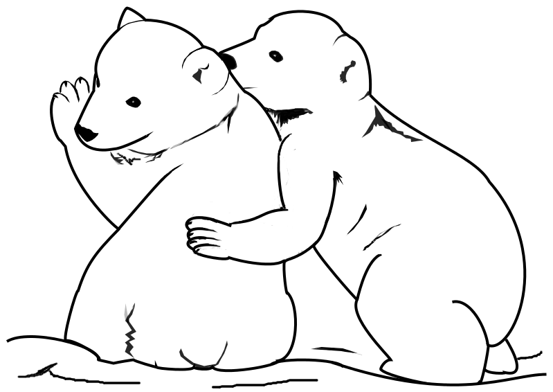 bear cub coloring pages grizzly bear cubs playing coloring page netart cub bear coloring pages