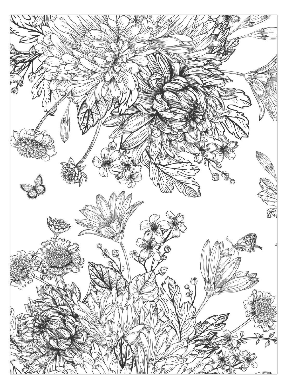 beautiful flowers coloring pages three beautiful rose coloring page download print flowers pages beautiful coloring