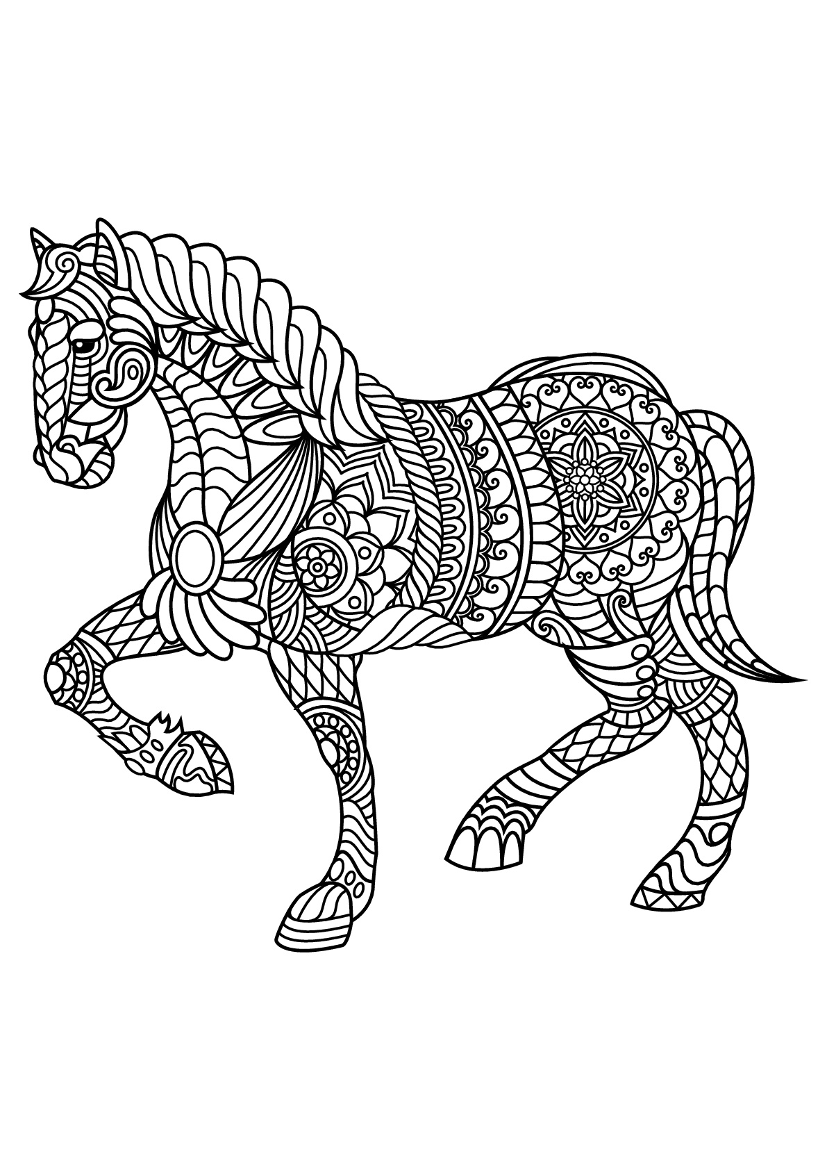 beautiful horse coloring pages carousel horse coloring pages for kids best place to color coloring beautiful pages horse