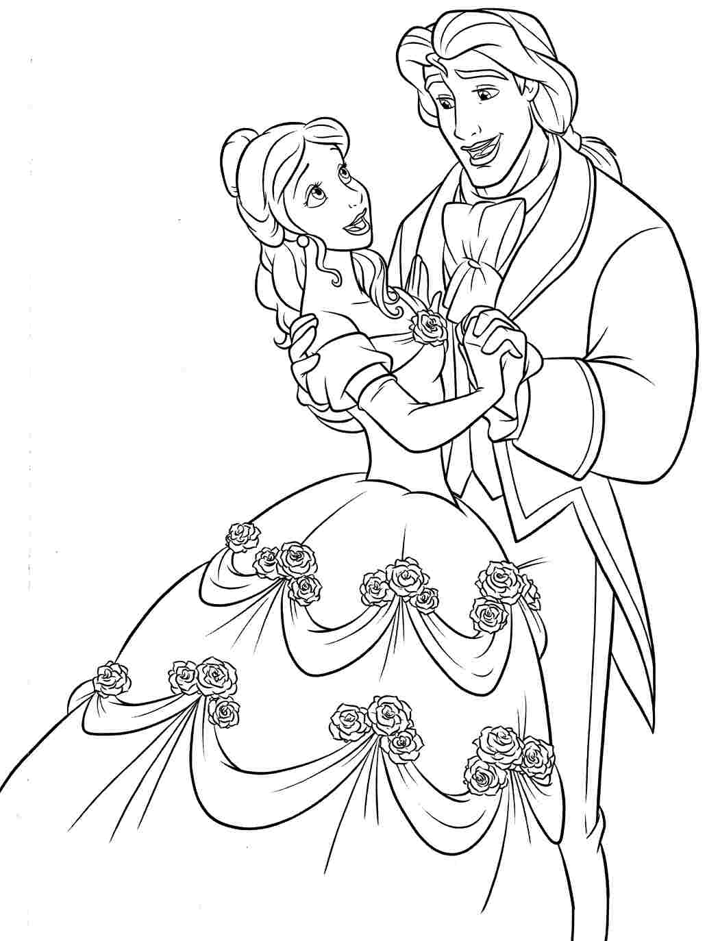 beauty and the beast colouring pages beauty and beast coloring page 14 coloringcolorcom the colouring beast and pages beauty