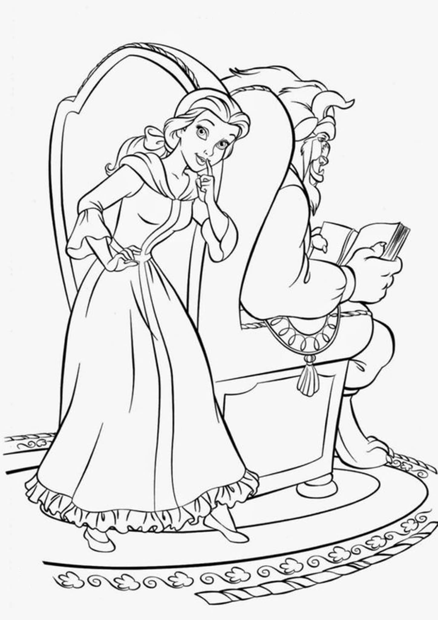 beauty and the beast colouring pages beauty and the beast coloring book coloring home beauty the beast and pages colouring