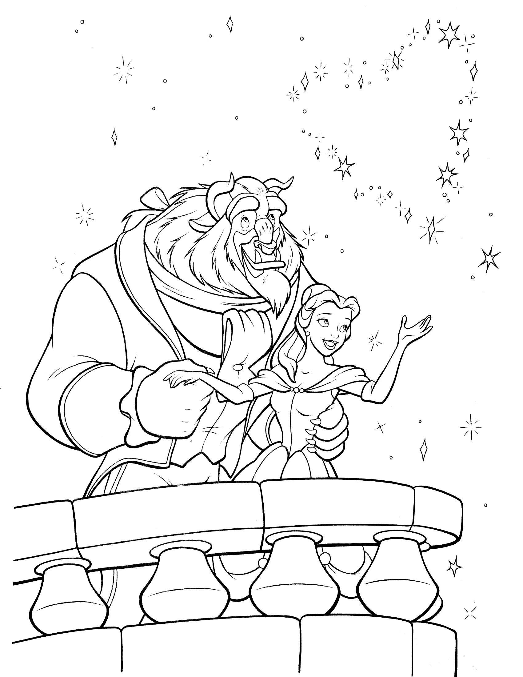 beauty and the beast colouring pages beauty and the beast coloring pages 2 disneyclipscom pages the beast and beauty colouring